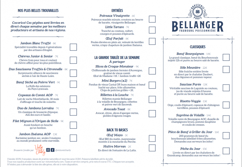 Brasserie Bellanger Paris 10